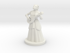 Dragonborn Female Bard in White Natural Versatile Plastic