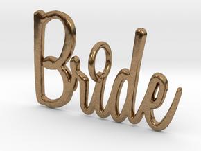 Bride Pendant in Natural Brass