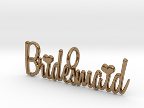 Bridesmaid Heart Pendant in Natural Brass