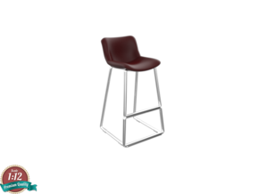 Miniature Neo Barstool - Materia Replica in White Natural Versatile Plastic: 1:12