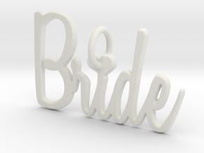 Bride Heart Pendant in White Natural Versatile Plastic