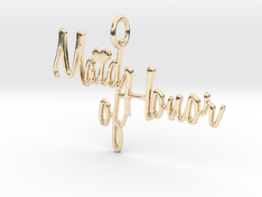 Maid of Honor Heart Pendant in 14K Yellow Gold
