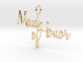 Maid of Honor Pendant in 14K Yellow Gold