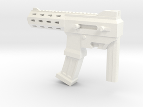 MP size auto machine gun in White Processed Versatile Plastic
