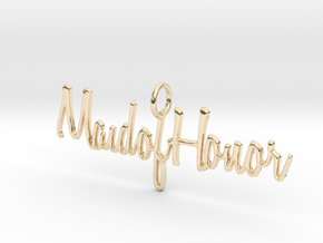 Maid of Honor Necklace Pendant in 14K Yellow Gold