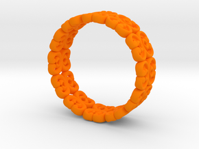 "Bracelet ""Bloom"" in Orange Processed Versatile Plastic: Small"