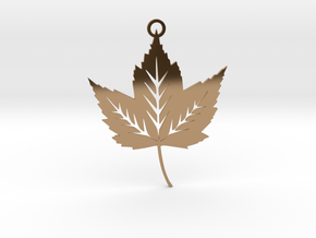 Forest Leaf Pendant in Polished Brass