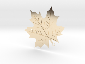 Maple Leaf Pendant in 14k Gold Plated Brass