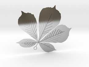 Sycamore Leaf Pendant in Fine Detail Polished Silver