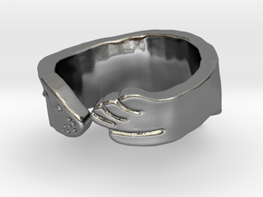 Sea Lion Ring - Size 9 in Polished Silver