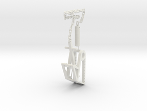 Trebuchet with chain in White Natural Versatile Plastic