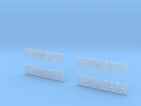 KENWORTH-logo-T05mm in Smooth Fine Detail Plastic