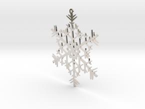 Snowflake Ornament in Platinum