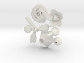 Snap Ring Play Topper Designs in White Natural Versatile Plastic