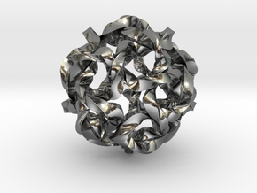 Knot Berry in Polished Silver (Interlocking Parts)