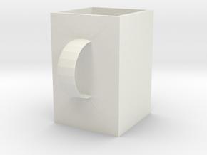 杯子 in White Natural Versatile Plastic: 6mm