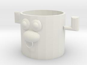 牛的鉛筆桶 in White Natural Versatile Plastic