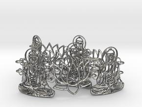 Buddah Bracelet 24 cm in Natural Silver (Interlocking Parts)