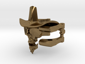 Cowboy Skull Size 9.5 in Natural Bronze