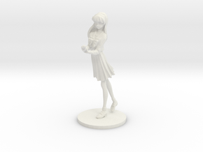 1/18 High School Girl in Winter Uniform 01 in White Natural Versatile Plastic