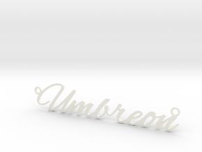 Umbreon necklace in White Processed Versatile Plastic