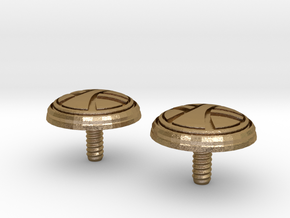 UKCM Chinstrap Buttons 1 Set in Polished Gold Steel
