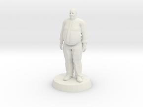 Fat Business Man in White Natural Versatile Plastic