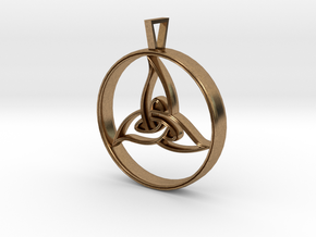 Triquetra Pendant in Natural Brass