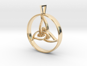 Triquetra Pendant in 14k Gold Plated Brass