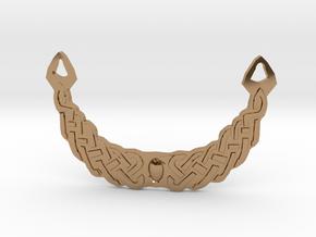 Celtic Medallion in Polished Brass