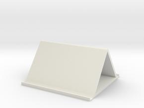 Book placement rack in White Natural Versatile Plastic
