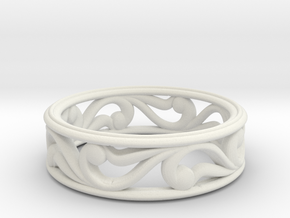 "Bracelet ""Move"" in White Natural Versatile Plastic: Small"