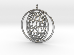 Pendant organic #6 in Natural Silver