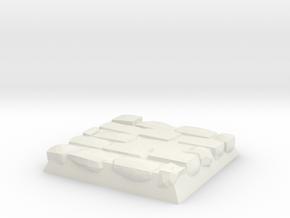 Cobble Stone Base in White Natural Versatile Plastic