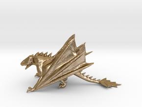 Dragon Model in Polished Gold Steel: Medium