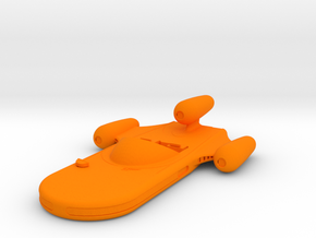 1/24 X-34 Landspeeder in WSF in Orange Processed Versatile Plastic