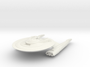 Federation Wolf Class V  Destroyer in White Natural Versatile Plastic