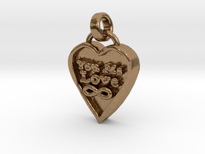 You Me Love Forever in Natural Brass (Interlocking Parts)
