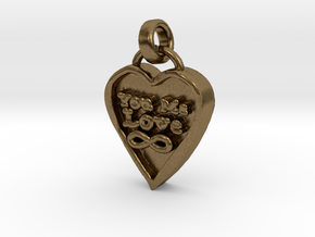 You Me Love Forever in Natural Bronze (Interlocking Parts)