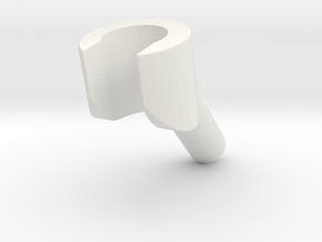 minifigure hand angled in White Natural Versatile Plastic