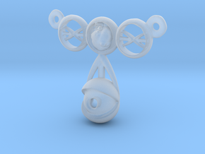 eyeball heart necklace pendant in Smooth Fine Detail Plastic: Medium