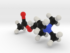 AcetylCholine Molecule Model. 3 Sizes. in Full Color Sandstone: 1:10