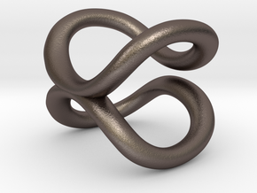 cycle ring in Polished Bronzed Silver Steel: 3 / 44