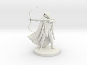 Human Male Ranger in White Premium Versatile Plastic