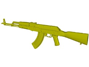 1/12 scale Avtomat Kalashnikova AK-47 rifle x 1 in Smooth Fine Detail Plastic