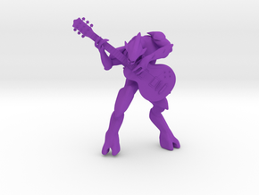 Halo Elite Playing Guitar in Purple Processed Versatile Plastic: Medium