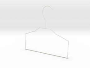 fold hanger in White Natural Versatile Plastic