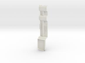 000039 Forstmaschinentransporter HO 1:87 in White Natural Versatile Plastic: 1:87 - HO