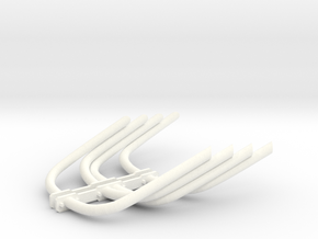 Zoomie Header Pipes in White Processed Versatile Plastic
