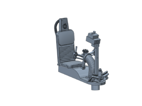 YT1300 BANDAY PG TURRET WELL SEAT in Smoothest Fine Detail Plastic